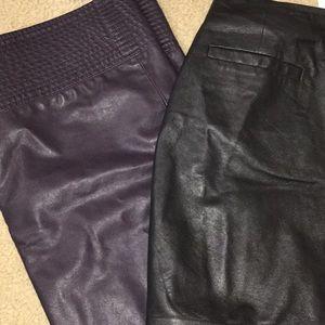 3c26ee578d Anthropologie Skirts - ANTHRO Vanessa Virginia Purple Faux Leather Skirt. Anthropologie  Dresses ...